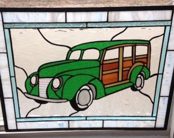 Woody Wagon In Stained Glass