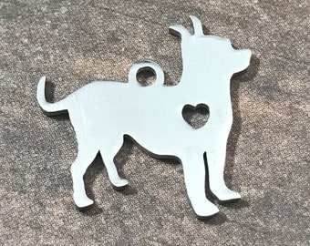 Pit Bull, Stainless Steel Stamping Blank, 19x18mm | American Staffordshire | Dog Charms | Canine | Bully Breeds | Jewelry Making Supplies