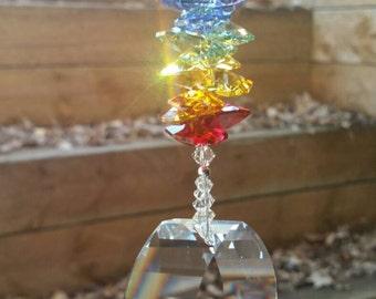 Rainbow suncatcher, energy gate crystal, crystal suncatcher, hanging crystal, window decoration, swarovski crystal suncatcher, rainbow maker