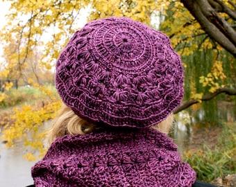 Pattern December cowl and beret crochet