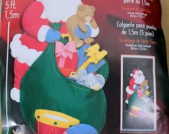 Bucilla Felt Door Hanging Santa Deliveries 5 feet tall