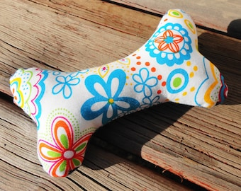 Dog Chew Toy, Dog Toy, Upcycled Dog Toy - Small - Bright Floral