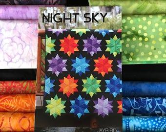 Night Sky Quilt Kit with Batik Fabrics