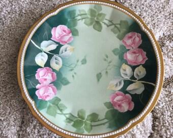 Elite Works /Bawo & Dotter Limoges Charger Pink Roses