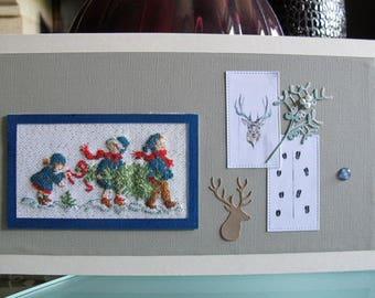 "Painting ""deer and three children"""