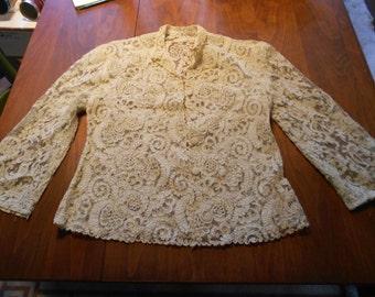 Beautiful Antique Handmade Lace Jacket