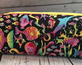 Under the Sea Double Zip Pouch