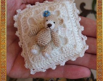 Vivian micro bear amigurumi , digital crochet pattern