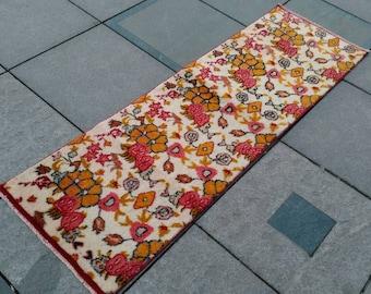 Runner rug. Türkish Runner Rug. Vintage runner rug. Home runner rug. Oushak runner. Vintage Oushak Runner Rug. 6.4x2feet! 77.5x24.8inc!
