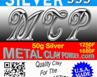 The Original -  MCP -  Metal Clay Powder 999+ 50g Fine Silver Clay!