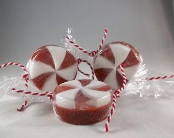 Soap, Christmas soap, Peppermint Swirl Soap, Handmade soap, Peppermint Soap, Stocking Stuffer, Christmas Gift