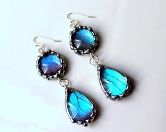 As Seen on Hart of Dixie, Blue Morpho Butterfly Earrings
