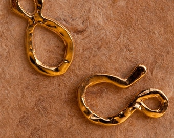Gold Vermeil Finding Handcrafted Hook & Eye  B56-57vm
