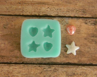 Silicone Flexible Mold- Heart & Star