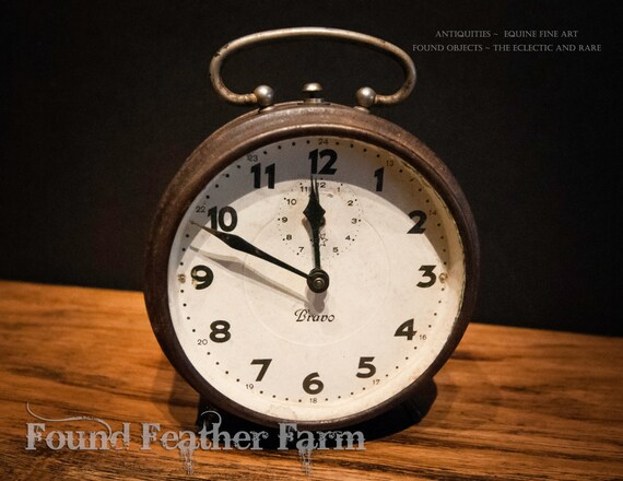 Antique Rare Working Old Alarm Clock JUNGHANS Bravo from Germany