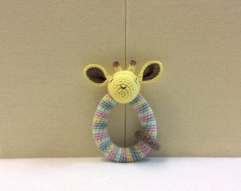 BABY RATTLE Crochet Bunny/Giraffe/Koala Baby Rattle, Crochet Baby Rattle, Baby Shower Gift, Baby Toy, Baby Valentine Gift, Baby Gift, Ing