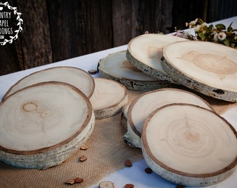 "10 to 11"" Large Aspen Tree Slice - 10-11 inch - 1.5 inch thick - Rustic Wedding Decor ~ Summer Wedding"