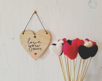 Made to order - Love you more (heart, mini)