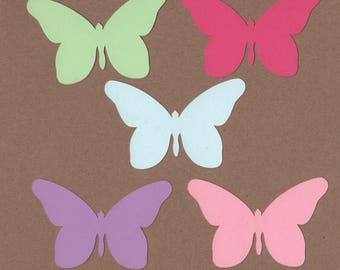 25 - 2 inch tall Butterfly Die Cuts for Paper Soda Pop Waters Colors Set 10
