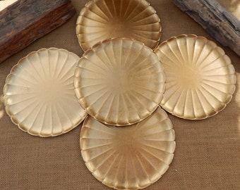 Otagiri Gold Leaf Plates  (5)  Hand Crafted Otagiri Original Japan Gold Leaf Plates  ~   5 Melamine Otagiri Gold Leaf Plates Made in Japan