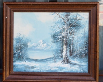 Holzer Painting, Vintage Painting, Oil Painting, Framed Oil Painting