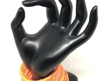 Wrap Bracelet-Tribal Orange Glow