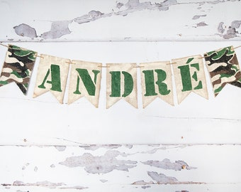Army Party Decor, Army Birthday Banner, Military Party Decor,  Personalized Military Banner, US Army Party Sign, B948