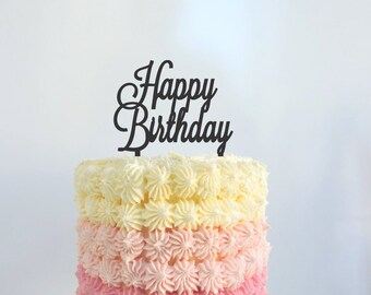 Happy Birthday Cake Topper N11 MADE IN AUSTRALIA