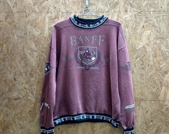 Hot Sale Vintage sweatshirt Banff Canada / ski