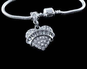 Quilter Bracelet quilter charm bracelet quilting bracelet quilting jewelry