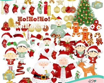 Christmas of Dreams Clipart instant download PNG file - 300 dpi