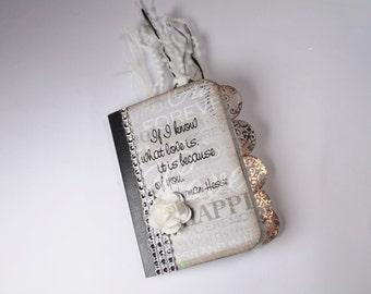 Mini Wedding Journal, Wedding Booklet, Altered Mini Notebook, Notebook, Journal, Writing Journal, Stationary, Booklet, Mini Notebook