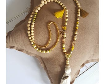 Necklace natural & yellow