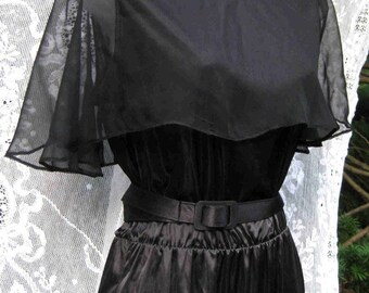 1980 s 80 s prom robe taille 10 pure Cap américain, petite robe noire, robe de soirée cocktail, robe formelle de jour ou tenues de soirée, robe de cocktail