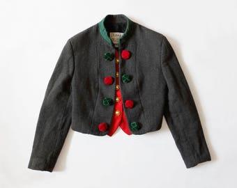 Vintage Moschino Quirky Christmas Wool Jacket Cheap and Chic Size