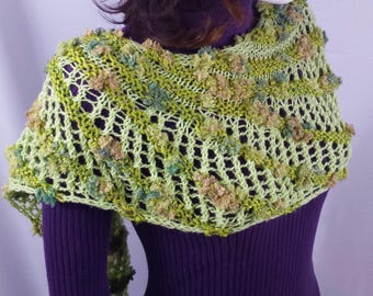 B100 asymmetric mixed fiber scarf