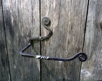 Forged Toilet Paper Holder - Hand Forged - TP Holder - Bathroom Fixture - Rustic Bathroom Decor - TP Rolls - Toilet Paper Storage