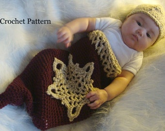 Baby Ornament Cocoon and Beanie Crochet Pattern PDF 489