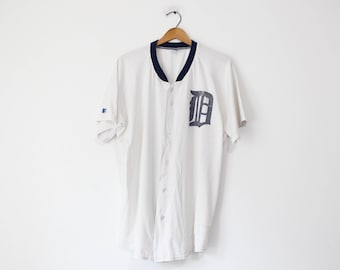 Vintage White Detroit Tigers Baseball T Shirt