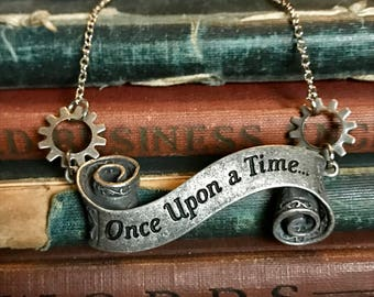 Steampunk Necklace, Steampunk Wedding, Steampunk Jewelry, Once Upon a Time