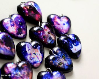 Photo Necklace Your Pet, Gift Idea for Pet Lover, Custom Pet Portrait Jewelry, Bespoke Cat or Dog Galaxy Necklace, Handcrafted by isewcute