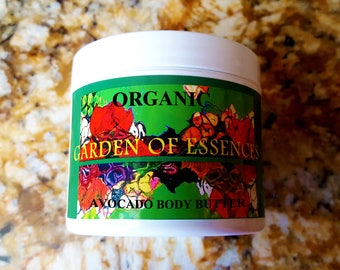 ORGANIC Avocado Butter Expeller Pressed Organic Avocado Body Butter, Unrefined Raw Avocado Butter, Avocado Moisturizer, Avocado Butter Base