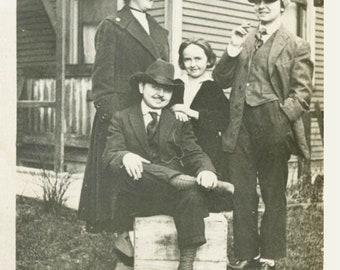 vintage photo 1920 Women Dress like Men Cross Dress Lesbian int
