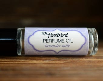Lavender Milk Perfume Oil - lavender, vanilla, coconut, sugared musk - roll on perfume