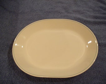 Corelle Platter With Blue Trim