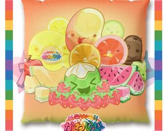 Univers kawaii - Cute classique Fruits groupe méditation concepteur / coussin de sol