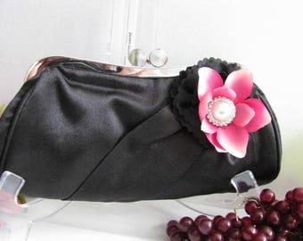 bridal, clutches, Weddings, bridesmaid, Black Wedding clutch, Bridesmaid purse, clutch, wedding purse, Bags and purses, White Clutch
