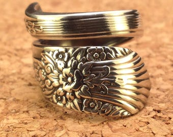 Antique Spoon Ring - 1936 Orleans Silverware Spoon Ring