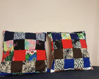 Patchwork memory pillow