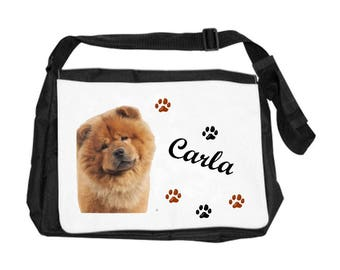 Chow chow bag personalized with name